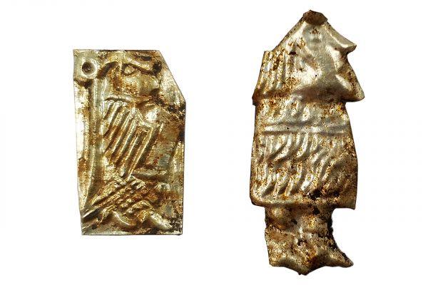 Arkeologernas senaste fynd i Ströja - guldbleck!